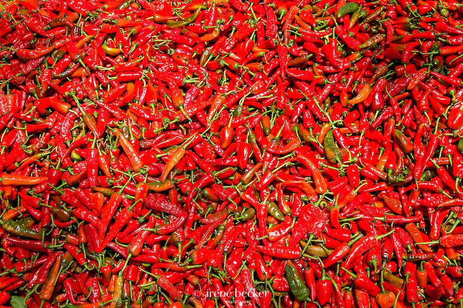Chilli  (hot) pepper from  the South Nigeria. Kasuwan Magani Market, Kaduna State.