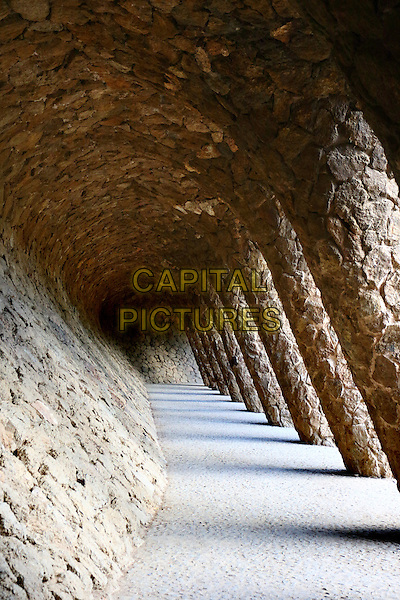Gaudi architechture in Parc Guell in Barcelona, Spain, on Wednesday September 16th 2015<br /> CAP/ROS<br /> &copy;ROS/Capital Pictures