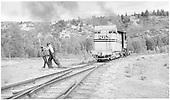 #268 rear switching on Sapinero branch wye.<br /> D&amp;RGW  Sapinero Branch, CO  Taken by Richardson, Robert W. - 7/3/1952
