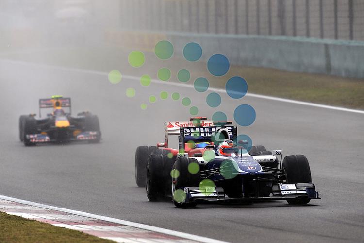 F1 GP of China, Shanghai 16.- 18. April 2010.Rubens Barrichello (BRA),  Williams F1 Team - Felipe Massa (BRA), Scuderia Ferrari ..Hasan Bratic;Koblenzerstr.3;56412 Nentershausen;Tel.:0172-2733357;.hb-press-agency@t-online.de;http://www.uptodate-bildagentur.de;.Veroeffentlichung gem. AGB - Stand 09.2006; Foto ist Honorarpflichtig zzgl. 7% Ust.;Hasan Bratic,Koblenzerstr.3,Postfach 1117,56412 Nentershausen; Steuer-Nr.: 30 807 6032 6;Finanzamt Montabaur;  Nassauische Sparkasse Nentershausen; Konto 828017896, BLZ 510 500 15;SWIFT-BIC: NASS DE 55;IBAN: DE69 5105 0015 0828 0178 96; Belegexemplar erforderlich!..