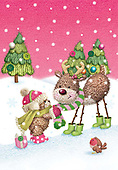Sharon, CHRISTMAS ANIMALS, WEIHNACHTEN TIERE, NAVIDAD ANIMALES, GBSS, paintings+++++,GBSSC50XJ8,#XA# ,raindeer