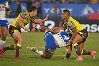 Solomone Kata is thrown to the ground.<br />