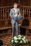"King Felipe VI of Spain delivered the ""Camino Real"" award to NBA spanish basketball player Pau Gasol at Alcala de Henares University in Madrid, July 15. 2015.<br />  (ALTERPHOTOS/BorjaB.Hojas)"