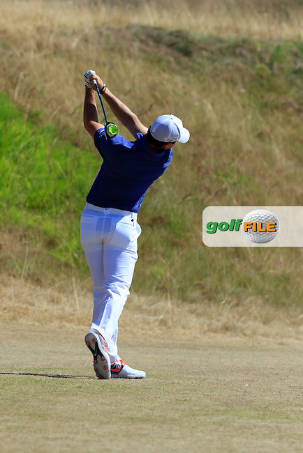 Rory MCILROY (NIR) tees off the 16th tee during Sunday's Final Round of the 2015 U.S. Open 115th National Championship held at Chambers Bay, Seattle, Washington, USA. 6/21/2015.<br /> Picture: Golffile | Eoin Clarke<br /> <br /> <br /> <br /> <br /> All photo usage must carry mandatory copyright credit (&copy; Golffile | Eoin Clarke)