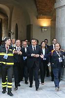 L'Aquila: José Luis Zapatero col ministro Frattini visita il castello degli spagnoli restaurato