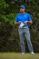 Julian Suri (USA) looks over his tee shot on 14 during Round 3 of the Valero Texas Open, AT&amp;T Oaks Course, TPC San Antonio, San Antonio, Texas, USA. 4/21/2018.<br /> Picture: Golffile | Ken Murray<br /> <br /> <br /> All photo usage must carry mandatory copyright credit (&copy; Golffile | Ken Murray)