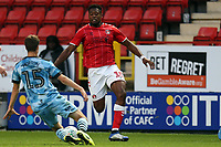 Chuks Aneke of Charlton Athletic and James Morton of Forest Green Rovers during Charlton Athletic vs Forest Green Rovers, Caraboa Cup Football at The Valley on 13th August 2019