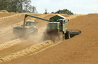 Combining barley, Yorkshire..