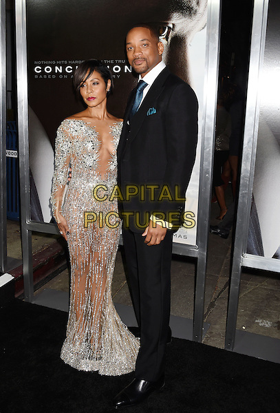 WESTWOOD, CA - NOVEMBER 23: Actors Jada Pinkett Smith and Will Smith attend the screening of Columbia Pictures' 'Concussion' at the Regency Village Theater on November 23, 2015 in Westwood, California.<br /> CAP/ROT/TM<br /> &copy;TM/ROT/Capital Pictures