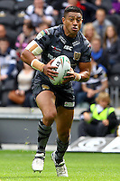 PICTURE BY ALEX WHITEHEAD/SWPIX.COM - Rugby League - Super League - Hull FC v Huddersfield Giants - KC Stadium, Hull, England - 01/07/12 - Hull's Willie Manu in action.