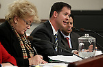 Las Vegas Mayor Carolyn Goodman and redevelopment director William Arent testify in committee at the Legislative Building in Carson City, Nev., on Wednesday, Feb. 27, 2013..Photo by Cathleen Allison