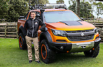 Holden NZ Managing Director Kristian Aquilina poses with the Colorado Xtreme concept 4x4. Holden New Zealand press conference announcing the Colorado Xtreme concept vehicle. Ambury Farm Park, Mangere Bridge, Auckland, New Zealand, Thursday 9 June 2016. Photo: Simon Watts/www.bwmedia.co.nz