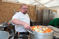 The Chef of the irish foodhouse cook a soupe. (Patrik Tanner/TPA/EQ Images)