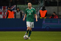 Shane Ferguson (Nordirland, Northern Ireland) - 19.11.2019: Deutschland vs. Nordirland, Commerzbank Arena Frankfurt, EM-Qualifikation DISCLAIMER: DFB regulations prohibit any use of photographs as image sequences and/or quasi-video.