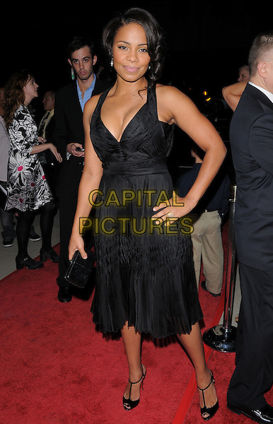 "SANAA LATHAN .The Fox Searchlight L.A. Premiere of ""The Secret Life of Bees"" held at The Academy of Motion Arts & Sciences in Beverly Hills, California, USA..October 6th, 2008.full length black dress hand on hip .CAP/DVS.©Debbie VanStory/Capital Pictures."