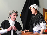 Scenes from the courtroom drama which took place in Ardee Castle. Photo:Colin Bell/pressphotos.ie