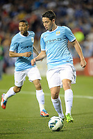 Samir Nasri (8) Manchester City in action..Manchester City defeated Chelsea 4-3 in an international friendly at Busch Stadium, St Louis, Missouri.