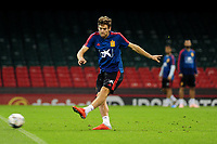 Spain's Marcos Alonso during the pre-International Friendly training session of the Spain squad at the Principality Stadium, Cardiff, UK. Wednesday 10 October 2018