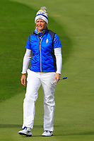 Suzann Pettersen (EUR) on the 1st fairway during Day 3 Singles at the Solheim Cup 2019, Gleneagles Golf CLub, Auchterarder, Perthshire, Scotland. 15/09/2019.<br /> Picture Thos Caffrey / Golffile.ie<br /> <br /> All photo usage must carry mandatory copyright credit (© Golffile | Thos Caffrey)