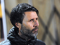 Lincoln City manager Danny Cowley during the pre-match warm-up<br /> <br /> Photographer Andrew Vaughan/CameraSport<br /> <br /> The EFL Checkatrade Trophy Northern Group H - Lincoln City v Wolverhampton Wanderers U21 - Tuesday 6th November 2018 - Sincil Bank - Lincoln<br />  <br /> World Copyright © 2018 CameraSport. All rights reserved. 43 Linden Ave. Countesthorpe. Leicester. England. LE8 5PG - Tel: +44 (0) 116 277 4147 - admin@camerasport.com - www.camerasport.com