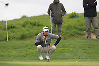 Joakim Lagergren (SWE) on the 4th green during Round 1 of the Open de Espana 2018 at Centro Nacional de Golf on Thursday 12th April 2018.<br /> Picture:  Thos Caffrey / www.golffile.ie<br /> <br /> All photo usage must carry mandatory copyright credit (&copy; Golffile | Thos Caffrey)