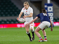 Fiona Pocock in action, England Women v France Women in the 6 Nations at Twickenham Stadium, Twickenham, England, on 21st March 2015