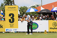 Fabrizio Zanotti (PAR) in action on the 3rd tee during Round 1 of the Maybank Championship at the Saujana Golf and Country Club in Kuala Lumpur on Thursday 1st February 2018.<br /> Picture:  Thos Caffrey / www.golffile.ie<br /> <br /> All photo usage must carry mandatory copyright credit (© Golffile | Thos Caffrey)