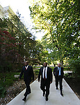 Nevada Assemblymen, from left, William Horne, Jason Frierson and Pat Hickey walk to the governor's office at the start of a special Legislative session in Carson City, Nev., on Tuesday, June 4, 2013. <br /> Photo by Cathleen Allison