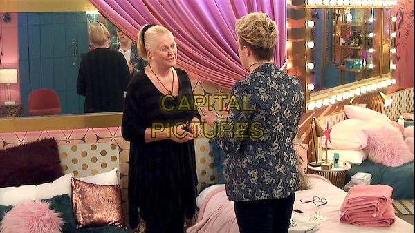 Celebrity Big Brother 2017<br /> Kim Woodburn, Jedward<br /> *Editorial Use Only*<br /> CAP/KFS<br /> Image supplied by Capital Pictures