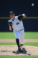 Trenton Thunder pitcher Nik Turley (45) during game against the New Hampshire Fisher Cats at ARM & HAMMER Park on May 2, 2013 in Trenton, NJ.  Trenton defeated New Hampshire 2-1.  Tomasso DeRosa/Four Seam Images