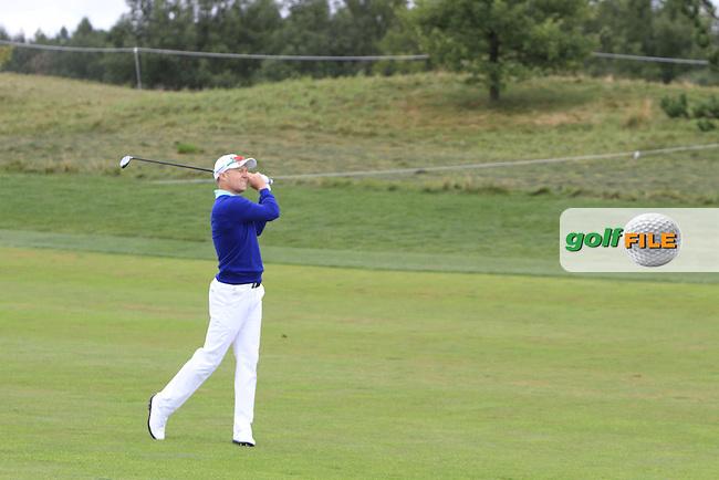 Ulrich Van Der Berg  (RSA) on the 9th fairway during Round 4 of the D+D Real Czech Masters 2016 at the Albatross Golf Club, Prague on Sunday 21st August 2016.<br /> Picture:  Thos Caffrey / www.golffile.ie<br /> <br /> All photos usage must carry mandatory copyright credit   (&copy; Golffile | Thos Caffrey)