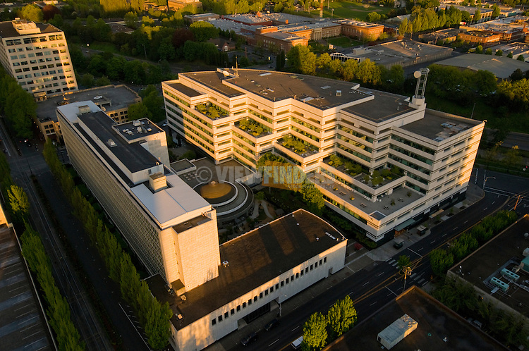 Aerial View of the Bonneville Power Administration (BPA) Building, Portland, Oregon