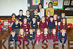 All smiles on their first day of school in Castleisland Presentaion on Thursday was front row l-r: Con O'Mahony, Louise O'Callaghan, Kacper Szesniak, Gabriela Socha, Siobhain Mahony, Wiktoria Brzozka, Szymon Porraza. Middle row: Neil Reidy, Maria Greaney, Aaron O'Connell, Amelie Kerin, ben McCarthy, Marcella Ksiazek. Back row: Niamh Abdul, Michael Griffin, Patryck Michno, Patryck Malecki, Miss Cora Dowling, Pamela Conway SMA Oliwia Gruska, Saoirse Wren-O'Connell and Jonas Straksys..