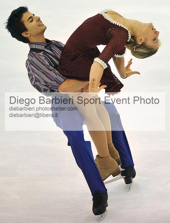 21th december 2012 Ice Figure Skating Italian Championship - Agor&agrave;, Milan<br /> <br /> Valentina Gabusi - Nik Mirzakhani