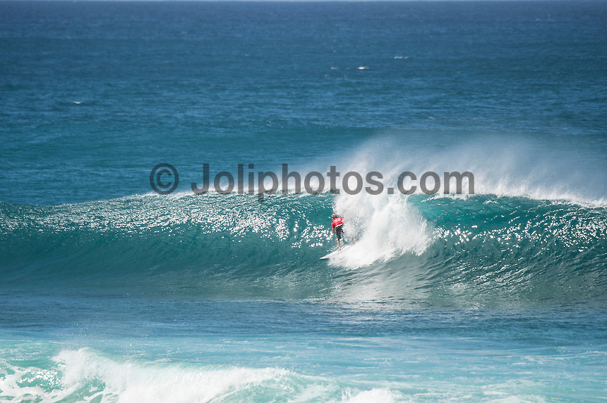 BANZAI PIPELINE, North Shore Oahu/Hawaii (Monday, December 19, 2016) Kolohe Andino (USA) - The Final day of the Billabong Pipe Masters in Memory of Andy Irons, the final stop on the 2016 Samsung Galaxy World Surf League (WSL) Championship Tour (CT), was called ON this morning in four-to-six foot (1 - 2 metre) waves at the world-renowned Banzai Pipeline. The day started at 8:00 a.m. local time with Round 3 Heat 12 then ran to completion with Michel Bourez (PYF) winning with Kanoa Igarashi (USA)  in second place.<br /> The event also concludes the Vans Triple Crown of Surfing with the new world champion John John Florence winning his third Triple Crown of Surfing.Photo: joliphotos