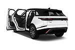 Car images close up view of a 2018 Land Rover Range Rover Velar R-Dynamic SE 5 Door SUV doors