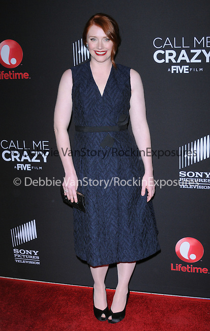 Bryce Dallas Howard at The Lifetime Original Movie World Premiere Call Me Crazy : A Five Film held at The Pacific Design Center in West Hollywood, California on April 16,2013                                                                   Copyright 2013 Hollywood Press Agency