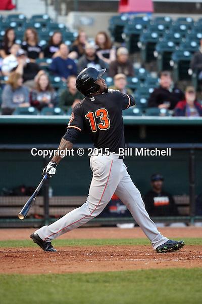 Domingo Santana -2015 Fresno Grizzlies (Bill Mitchell)