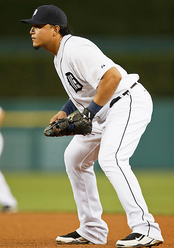 September 21, 2010:  Detroit Tigers first baseman Miguel Cabrera (#24) during game action between the Kansas City Royals and the Detroit Tigers at Comerica Park in Detroit, Michigan.  The Royals defeated the Tigers 9-6.