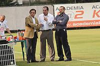 ATENÇÃO EDITOR: FOTO EMBARGADA PARA VEÍCULOS INTERNACIONAIS. SAO PAULO, 14 DE SETEMBRO DE 2012 - TREINO PALMEIRAS -  O presidente do Palmeiras Arnaldo Tironei, durante entrevista no treino desta tarde sexta feira, no CT do clube, na regiao oeste da capital. FOTO: ALEXANDRE MOREIRA - BRAZIL PHOTO PRESS