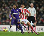 Fernandinho of Manchester City turns Steven N'Zonzi of Stoke City - Barclays Premier League - Stoke City vs Manchester City - Britannia Stadium - Stoke on Trent - England - 11th February 2015 - Picture Simon Bellis/Sportimage