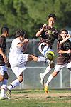 Palos Verdes, CA 02/09/12 - Erik Le (Peninsula #10) in action during the West vs Peninsula Bay League boys varsity soccer game.