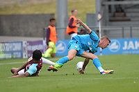 harry taylor and vashon neufville during Barnet vs West Ham United, Friendly Match Football at the Hive Stadium on 15th July 2017