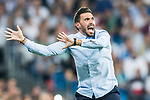 Second coach Eder Sarabia of Real Betis reacts during the La Liga 2017-18 match between Real Madrid and Real Betis at Estadio Santiago Bernabeu on 20 September 2017 in Madrid, Spain. Photo by Diego Gonzalez / Power Sport Images