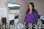 Jaqui Lythgoe showing where thieves tried to break in to Bowling Buddies, Milehieght, Tralee on Thursday Night.