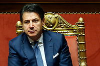 The Italian Premier Giuseppe Conte<br /> Rome December 19th 2018. Senate. Speech of the Italian Premier about the results of the negotiation with the European Union about the  budget plan.<br /> Foto Samantha Zucchi Insidefoto