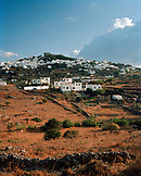 GREECE, Chora, Dodecanese Island, view of the island top village of Chora from Profitis Ilias