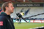 Florian Kohfeldt (Trainer SV Werder Bremen), DAZN Interview<br /> <br /> <br /> Sport: nphgm001: Fussball: 1. Bundesliga: Saison 19/20: Relegation 02; 1.FC Heidenheim vs SV Werder Bremen - 06.07.2020<br /> <br /> Foto: gumzmedia/nordphoto/POOL <br /> <br /> DFL regulations prohibit any use of photographs as image sequences and/or quasi-video.<br /> EDITORIAL USE ONLY<br /> National and international News-Agencies OUT.