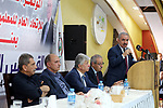 Palestinian Prime Minister Mohammad Ishtayeh attends the launching ceremony of the sixth conference of the general union of teachers, in the West Bank city of Ramallah, August 22, 2019. Photo by Prime Minister Office