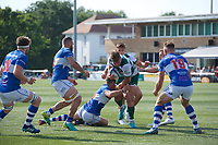 Ben West of Ealing Trailfinders during the 2019/20 Pre Season Friendly match between Ealing Trailfinders and Bishop's Stortford at Castle Bar , West Ealing , England  on 24 August 2019. Photo by Alan  Stanford / PRiME Media images